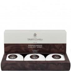 TRUEFITT & HILL SOAP Sandalwood - Мыло для рук и тела SANDALWOOD 3 х 150гр