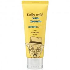 VILLAGE 11 FACTORY Daily Mild Sun Cream SPF 50+ PA++++ - Крем солнцезащитный для лица 25мл