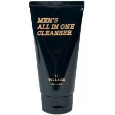 VILLAGE 11 FACTORY Men's All In One Cleanser - Пенка-скраб для умывания и бритья МУЖСКАЯ 50мл